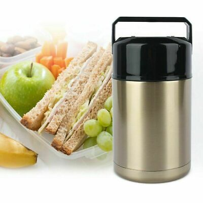 AU24.93 • Buy Vacuum Insulated Lunch Box Stainless Steel 2 Tier Jar Hot Thermos Food Container