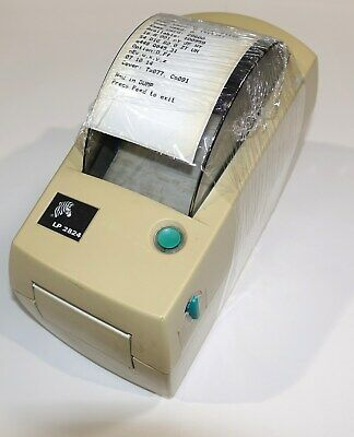 $25 • Buy Zebra LP2824 Thermal Printer - Working  Case Shows Yellowing No Power Supply