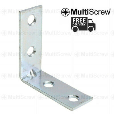 Metal Angle Brackets 90 Degree Corner Brace For Shelf Fence Zinc Plated Support • 6.39£