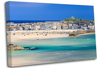£17.99 • Buy Porthminster Beach St Ives Cornwall  Canvas Wall Art Picture Print