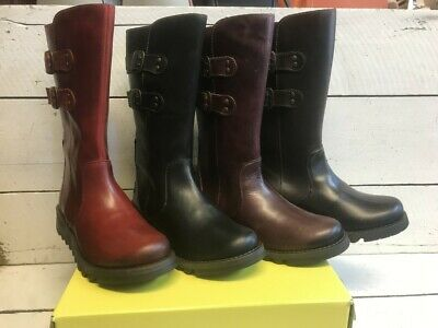 £100 • Buy Ladies Fly London Suli Leather Mid Calf Zip Up Boots