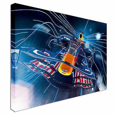Red Bull F1 Car Formula 1Canvas Wall Art Picture Print • 29.99£