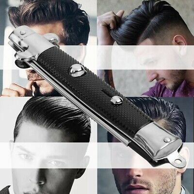 $ CDN7.32 • Buy Automatic Push Button Folding Comb Barber Switch-blade Pocket Knife Looking Kits