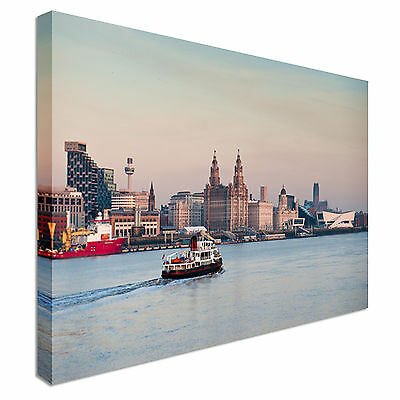 £39 • Buy Iconic Liverpool Skyline 40x20inches Canvas Wall Art Picture Print
