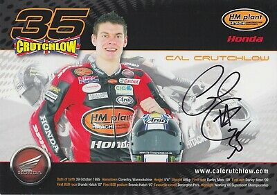 Cal Crutchlow Hand Signed Promo Card - BSB Autograph. • 19.99£