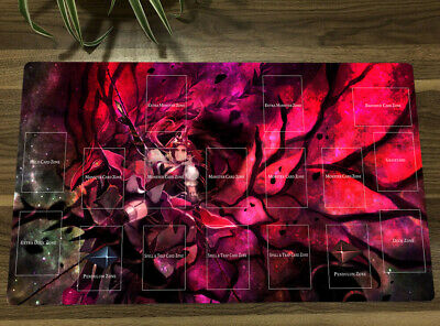 AU35.18 • Buy Yu-Gi-Oh! Akiza Izinski Black Rose Dragon Playmat Yugioh TCG CCG Play Mat & Bag