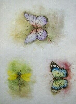 £1.89 • Buy Rice Papers Decoupage Scrapbook And Crafting Sheet Butterflies Dragonfly 97