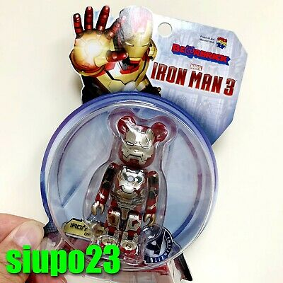 $99.99 • Buy Medicom 100% Bearbrick ~ Marvel Ironman 3 Be@rbrick Mark 42 Damage Ver