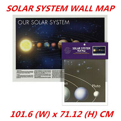 AU5.99 • Buy Our Solar System Space Universe Wall Decor Poster Map Galaxy Spiral Star 101cm
