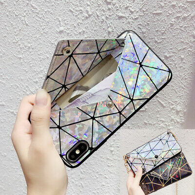 AU12.65 • Buy Crossbody Leather Wallet Card Chain Bag Case Cover For IPhone XS Max XR 7 8 Plus