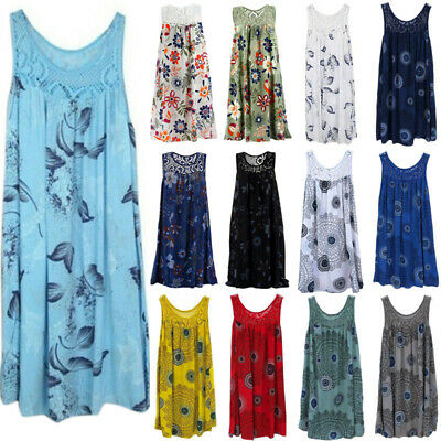 AU16.24 • Buy Plus Size Womens Lace Top Summer Vest Tank Tops Sleeveless Boho T Shirts Blouse