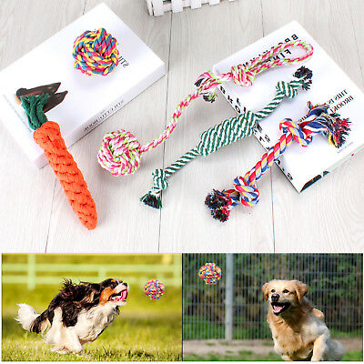 Dog Rope Toys For Aggressive Chewers Set Of 5 Nearly Indestructible Dog Toys • 8.39£