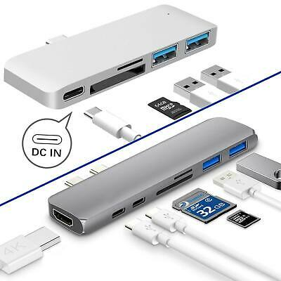 AU19.77 • Buy 7 In 1 USB-C Type C HD Output 4K HDMI SD/TF USB 3.0 Adapter HUB For MacBook Pro