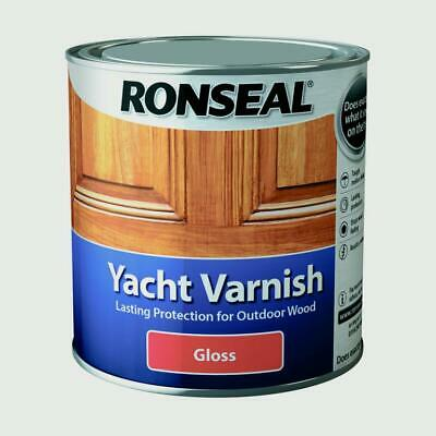 Ronseal Yacht Varnish Gloss 1L, 500mL OR 250mL • 12.49£