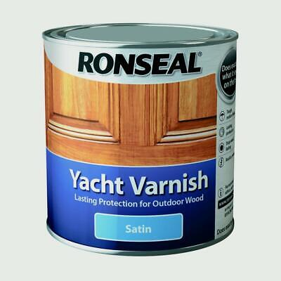 Ronseal Yacht Varnish Satin 1L, 500mL OR 250mL • 24.49£