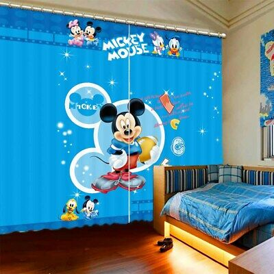 Yellow Dog Mickey Mouse 3D Curtain Blockout Photo Printing Curtains Drape Fabric • 101.47£