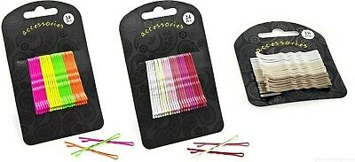 Neon, Brown Or Pink Tone Hair Pins Grips Clips Slide Waved Bobby White Wavy • 2.39£