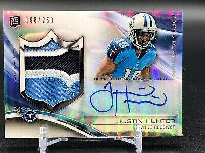 $3.99 • Buy 2013 Topps Platinum 3 Color Patch Justin Hunter Tennessee Titans Rookie Auto 250