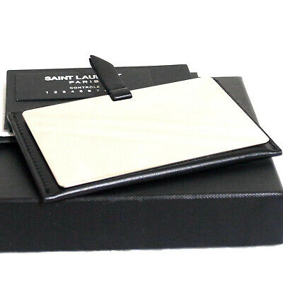 £69.56 • Buy Authentic Saint Laurent For You Compact Mirror W/Black Leather Case EUC In Box