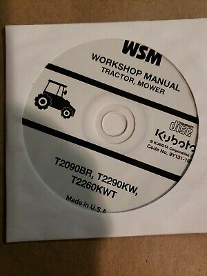 kubota service manual cd