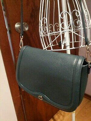 AU98 • Buy OROTON Blue Leather Voyage Saddle Crossbody Handbag  As New  Satchel Medium
