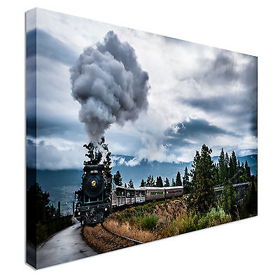 £48.99 • Buy Steam Train Canvas Wall Art Picture Print