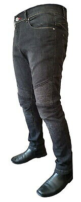 Mens Motorcycle Denim Jeans Trousers Skinny Slim Fit With Protective Lining • 99.99£