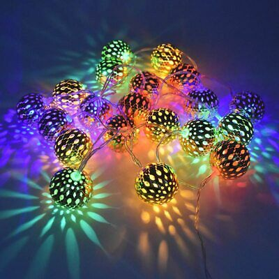 VOILEY® Ornaments Christmas 10 20 Balls Moroccan String Light Merry Christmas • 23.53$