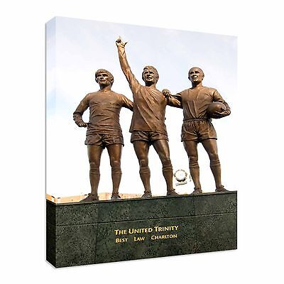 George Best, Denis Law, Bobby Charlton United Canvas Wall Art Picture Print • 17.99£