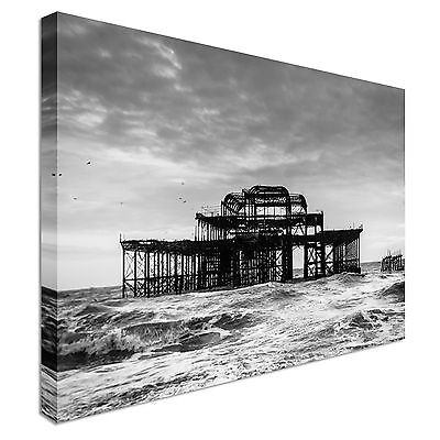 £29.99 • Buy West Pier In Brighton Canvas Wall Art Picture Print