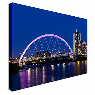 £17.99 • Buy The Clyde Arc, Glasgow, Scotland Canvas Wall Art Picture Print