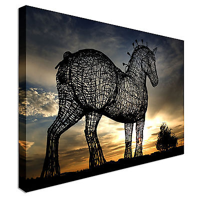 £17.99 • Buy Horse Sculpture Glasgow Canvas Wall Art Picture Print