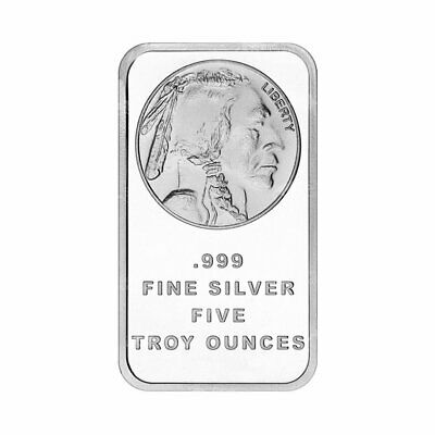 $ CDN207.05 • Buy 5 Oz Silvertowne Buffalo Silver Bar