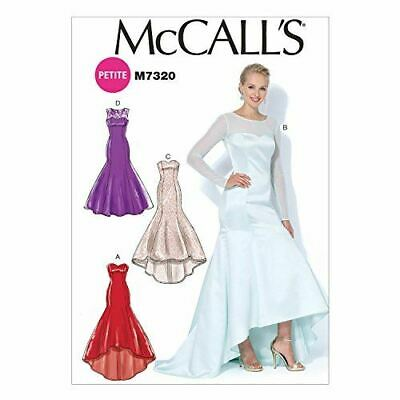 McCalls Sewing Pattern 7320 Misses Mermaid-Hem High-Low Dresses Size 14-22 • 10.08£