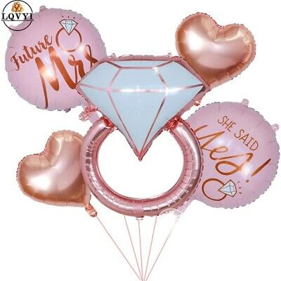 AU7.19 • Buy She Said Yes Engagement Bridal Shower Decorations Balloons Hens Kitchen Tea Gold