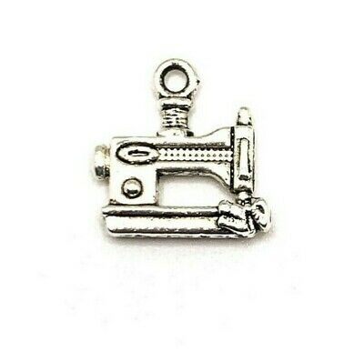 $5.95 • Buy 4, 20 Or 50 BULK Pcs Silver Sewing Machine Tailor Charms - US Seller - AS831