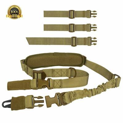 Adjustable Hunting 2 Two Point Rifle Sling Bungee Tactical Strap Sgun V4A1