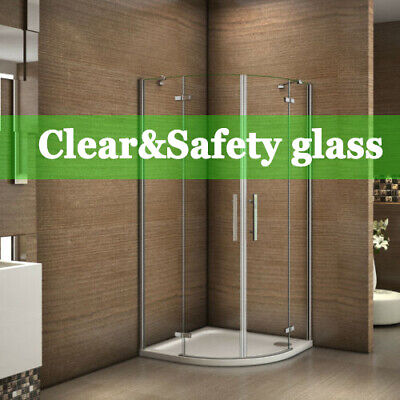 Frameless Quadrant Shower Enclosure Hinge Door Walk In Tempered Clear Glass • 116.99£