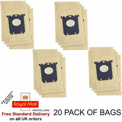 FITS PHILIPS ZANUSSI ELECTROLUX VACUUM CLEANER S CLASS HOOVER DUST BAGS X 20 • 14.99£