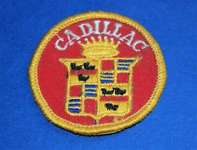 1970'S  Cadillac Embroidered Sew On Patch.  2 INCH. • 5.95$