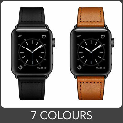 $ CDN23.85 • Buy Leather Band Strap For Apple Watch Series 6 5 4 3 2 1 SE. 7 Colours