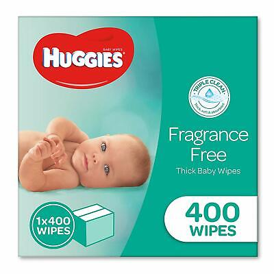 AU32.37 • Buy HUGGIES Baby Wipes Fragrance Free Baby 400 Wipes Refill Pack FAST FREE POSTAGE