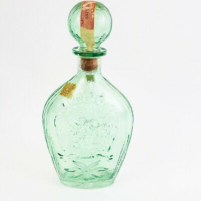 $56.99 • Buy Vintage Prohibition Green Glass Decanter Bottle Eagle 1958 Mold With Tax Strip