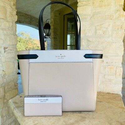 $ CDN311.18 • Buy NWT, Kate Spade Cameron Laptop Tote 3 Compartment Leather Handbag/wallet Options