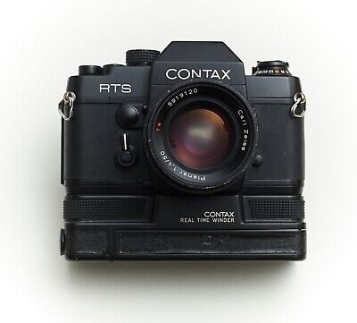 $ CDN750.04 • Buy Contax RTS With 50mm 1.4 Planar + MOTOR WINDER + DATA BACK * RARE *from EU
