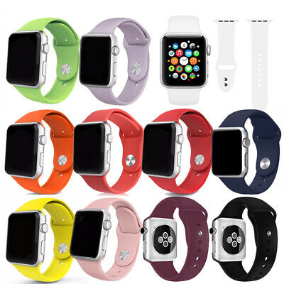 AU7.98 • Buy Silicone Strap Band For Apple Watch IWatch 38/40/42/44mm Unisex Sport 9 Colors