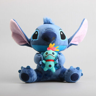 Disney Lilo & Stitch Plush Toy Stitch Holding Scrump Soft Stuffed Doll Xmas Gift • 10.99£