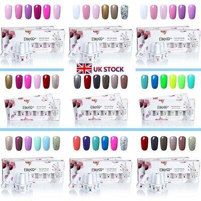 6 Colours Elite99 UV LED Gel Nail Polish Pedicure Gift Set Lacquer DIY Varnish • 9.99£