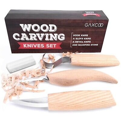 $21.90 • Buy Wood Carving Tools Kit Knife | Sloyd Hook Detail Knives | Bonus Sharpener
