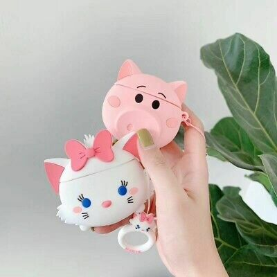 $ CDN10.54 • Buy For Apple Airpods Case 3D Cute Disney Marie Cat Piglet Earphone Bag Strap Cover